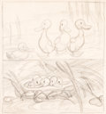 Animation Art:Limited Edition Cel, Gustaf Tenggren The Old Mill Concept/Storyboard Drawing(Walt Disney, 1937)....