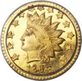 California Fractional Gold , 1868 50C Indian Round 50 Cents, BG-1074, R.6, MS66+ PCGS....