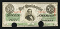 Confederate Notes:1863 Issues, T57 $50 1863 PF-15.. ...