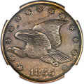 1855 P1C Flying Eagle Cent, Judd-168 Original, Pollock-193, R.4 -- Obverse Graffiti -- NGC Details. Proof....(PCGS# 1172...