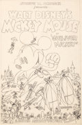 Animation Art:Concept Art, Mickey Mouse Gulliver Mickey One Sheet Concept Art (WaltDisney, 1934)....