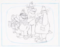 Animation Art:Production Drawing, The Banana Splits in Hocus Pocus Park Full Group AnimationDrawing Group of 4 (Hanna-Barbera, 1972).... (Total: 4 OriginalArt)