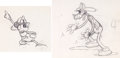 Animation Art:Production Drawing, Mickey's Fire Brigade Animation Drawings (Walt Disney,1935).... (Total: 2 )