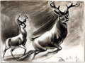Animation Art:Concept Art, Bambi Concept Drawing Group of 5 (Walt Disney, 1942)....(Total: 5 Original Art)
