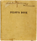 Books:Manuscripts, [World War I, Aviation, Texana]. World War I Era Student Pilot'sLog Book.. ...