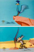 Animation Art:Production Cel, Chariots of Fur Road Runner and Coyote Production Cels Groupof 2 (Warner Brothers, 1994)....