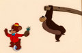 Animation Art:Production Cel, Fun and Fancy Free Bongo Bear and Lumpjaw Production Cel (Walt Disney, 1947)....