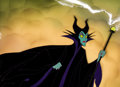Animation Art:Production Cel, Sleeping Beauty Maleficent Production Cel and Hand-PaintedBackground Setup (Walt Disney, 1959)....