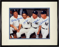 Baseball Collectibles:Photos, Mickey Mantle, Yogi Berra, Whitey Ford and Joe DiMaggio MultiSigned Oversized Photograph....
