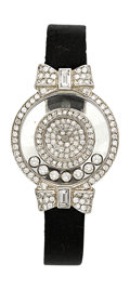 Estate Jewelry:Watches, Chopard Lady's Diamond, White Gold Happy Diamonds Icons Watch. ...