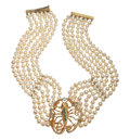 Estate Jewelry:Necklaces, Cultured Pearl, Diamond, Emerald, Gold Necklace. ...