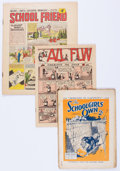 Magazines:Miscellaneous, Vintage UK Magazines and Newsprint Funnies Group of 25 (1930s-50s)Condition: FR/GD.... (Total: 25 Items)