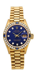 Estate Jewelry:Watches, Rolex Lady's Diamond, Sapphire, Gold President Watch. ...