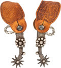 Western Expansion:Cowboy, Garcia-Marked Single-Mounted California-Style Spurs....