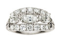 Estate Jewelry:Boxes, Diamond, Platinum Ring. ...