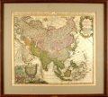 Books:Maps & Atlases, [Maps]. Homann Heirs. Eighteenth-Century Engraved Map of Asia withHand-Coloring. [Nuremberg:] 1744. . ...