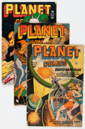 Golden Age (1938-1955):Science Fiction, Planet Comics Group of 6 (Fiction House, 1946-51) Condition:Average GD.... (Total: 6 Comic Books)