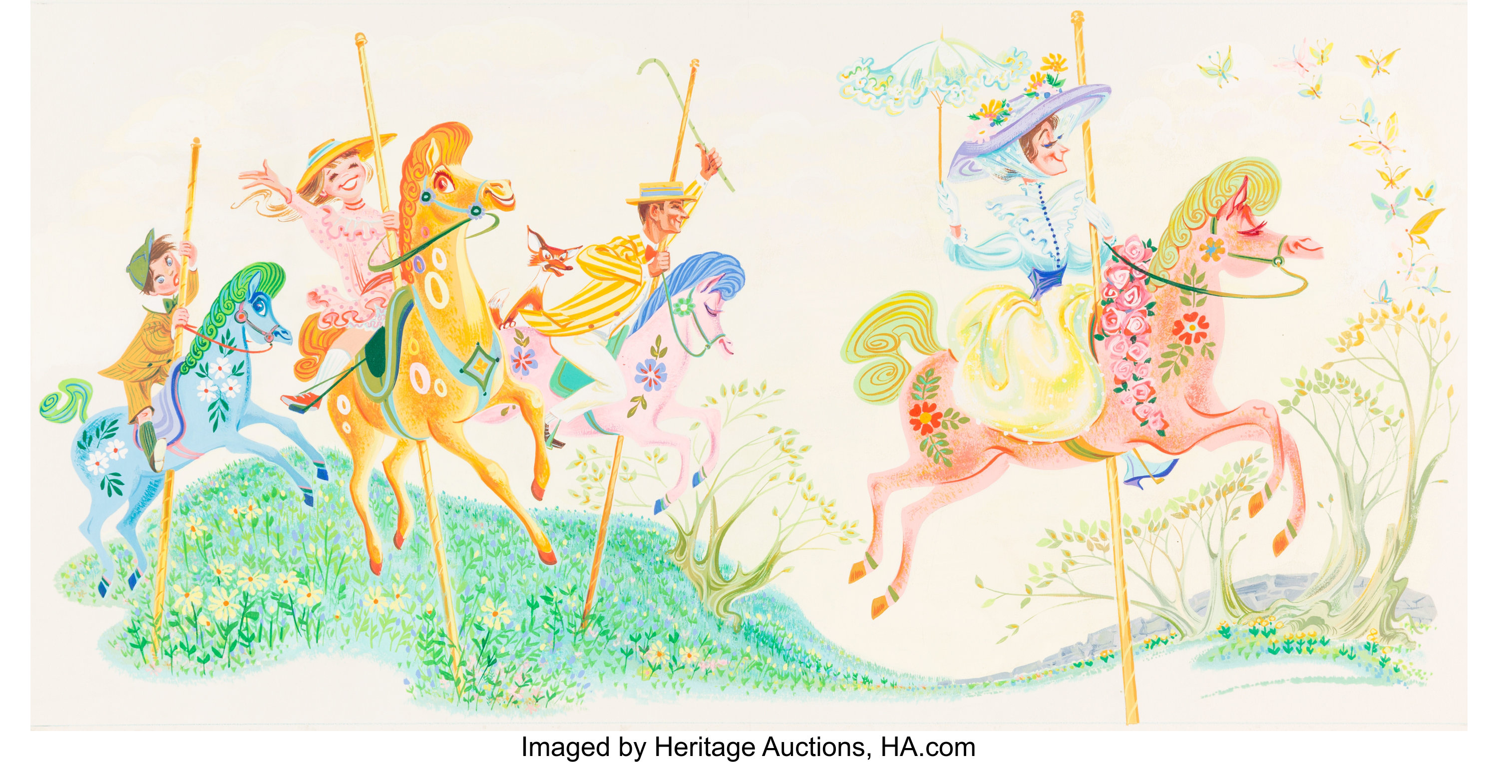 Mary Poppins Illustration Script And Record Album Walt Disney Lot 95050 Heritage Auctions