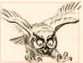 Animation Art:Production Drawing, Bambi Friend Owl Storyboard (Walt Disney, 1942)....