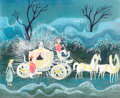 Animation Art:Concept Art, Mary Blair Cinderella Coach with Coachman and Horses Concept Art (Walt Disney, 1950)....