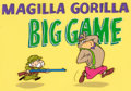 "Animation Art:Production Cel, Magilla Gorilla ""Big Game"" Magilla and J. Whimple DimpleTitle Cel Setup (Hanna-Barbera, 1964)...."