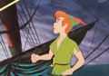 Animation Art:Production Cel, Peter Pan Production Cel and Master Background Setup (WaltDisney, 1993)....