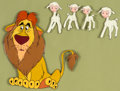 Animation Art:Production Cel, Lambert the Sheepish Lion Production Cel (Walt Disney,1952)....