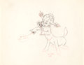 "Animation Art:Production Drawing, Fantasia ""Pastoral Symphony"" Sunflower Animation Drawing (Walt Disney, 1940)...."