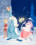 Animation Art:Production Drawing, The Sword in the Stone Book Cover Art (Walt Disney,1963)....