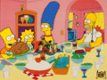 "Animation Art:Production Cel, The Simpsons ""Bart vs. Thanksgiving"" Production Cel (Fox,1990)...."