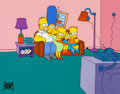 Animation Art:Presentation Cel, The Simpsons Couch Gag Presentation Cel (Fox, 1990)....