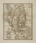 Books:Maps & Atlases, [Maps, Ireland]. Gerardus Mercator and Iudocus Hondius. SeventeenthCentury Engraved Map of Ireland, Showing Present Day Count...