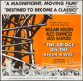 "Movie Posters:War, The Bridge on the River Kwai (Columbia, 1958). Six Sheet (79"" X80""). War.. ..."