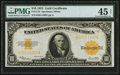 Large Size:Gold Certificates, Fr. 1173 $10 1922 Gold Certificate PMG Choice Extremely Fine 45 Net.. ...