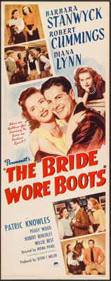 "The Bride Wore Boots (Paramount, 1946). Insert (14"" X 36""). Comedy"