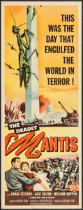 "Movie Posters:Science Fiction, The Deadly Mantis (Universal International, 1957). Insert (14"" X36""). Science Fiction.. ..."