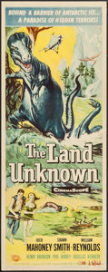 "Movie Posters:Science Fiction, The Land Unknown (Universal International, 1957). Insert (14"" X36""). Science Fiction.. ..."