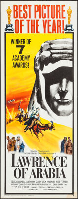 "Lawrence of Arabia (Columbia, 1962). Insert (14"" X 36"") Academy Award Style B. Academy Award Winners"