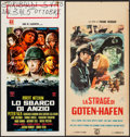 "Movie Posters:War, Anzio! & Other Lot (Columbia, 1968). Italian Locandinas (2)(13"" X 27.25"" & 13"" X 27.5""). War.. ... (Total: 2 Items)"