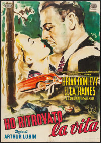 "Impact (United Artists, 1949). Italian 2 - Foglio (38"" X 54.5""). Film Noir"