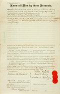 Books:Americana & American History, [New York State]. Nineteenth-Century Warranty Deed. Dated January30, 1875. . ...