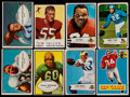 Football Cards:Sets, 1953 to 1959 Topps and Bowman Football Collection (127)....