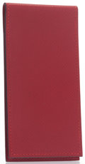 "Luxury Accessories:Accessories, Hermes Rouge Vif Courchevel Leather Notepad Cover. ExcellentCondition. 5"" Height x 2.5"" Width x .25"" Depth. ..."