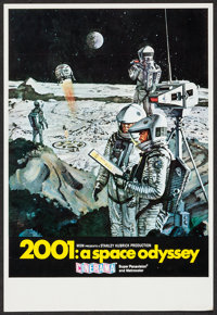 """2001: A Space Odyssey (MGM, 1968). Trimmed Midget Window Card (9"""" X 13.25""""). Science Fiction"""
