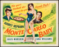 """Movie Posters:Comedy, Monte Carlo Baby (Filmakers Releasing Organization, 1953). HalfSheet (22"""" X 28""""). Comedy.. ..."""