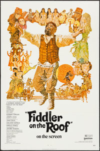 """Fiddler on the Roof & Other Lot (United Artists, 1972). One Sheet (27"""" X 41"""") & Insert (14"""" X 36&..."""