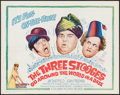 "Movie Posters:Comedy, The Three Stooges Go Around the World in a Daze (Columbia, 1963).Half Sheet (22"" X 28""). Comedy.. ..."