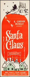 """Movie Posters:Fantasy, Santa Claus & Other Lot (K. Gordon Murray, 1960). Insert (14"""" X 36"""") and One Sheet (27"""" X 41""""). Fantasy.. ... (Total: 2 Items)"""