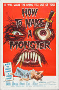 "Movie Posters:Horror, How to Make a Monster (American International, 1958). One Sheet(27"" X 41""). Horror.. ..."