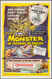 """The Monster of Piedras Blancas/Okefenokee Combo (Film Service Distributing, 1959). One Sheet (27"""" X 41""""). Horr..."""